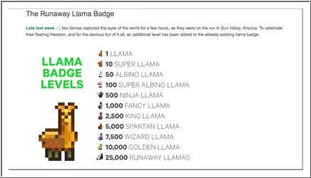 DeviantART Llama Levels by WDWParksGal-Stock
