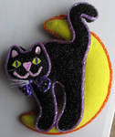 Black Cat Halloween Decor IMG 2171 by WDWParksGal-Stock