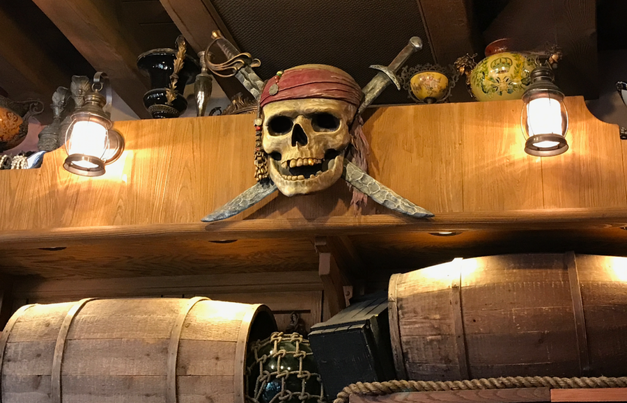 A Pirate Skull and Crossbones IMG 2881 by WDWParksGal-Stock