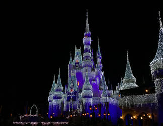 Cinderella Castle Covered in Lights by WDWParksGal-Stock
