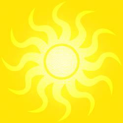 Floor Tile Yellow Sun V1