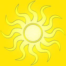 Floor Tile Yellow Sun V2