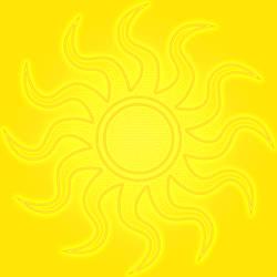 Floor Tile Yellow Sun V3