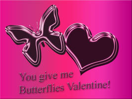 Butterfly and Heart Valentine