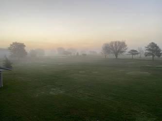 Foggy Morning Golf Course