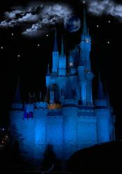 Castle Blue at Night BKG