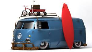 VW Type 2 T1 Panel Van SoCal by DarkStryder360
