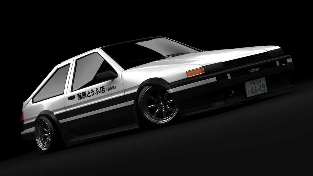 toyota trueno ae86 initial d by darkstryder360 on deviantart. Black Bedroom Furniture Sets. Home Design Ideas