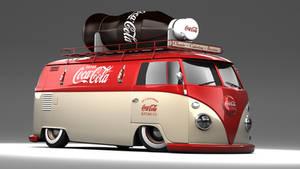 VW Type 2 Panel Coca Cola Van