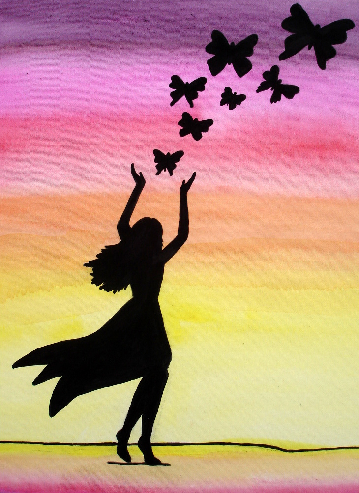 Flying Butterfly Silhouette images - Hdimagelib