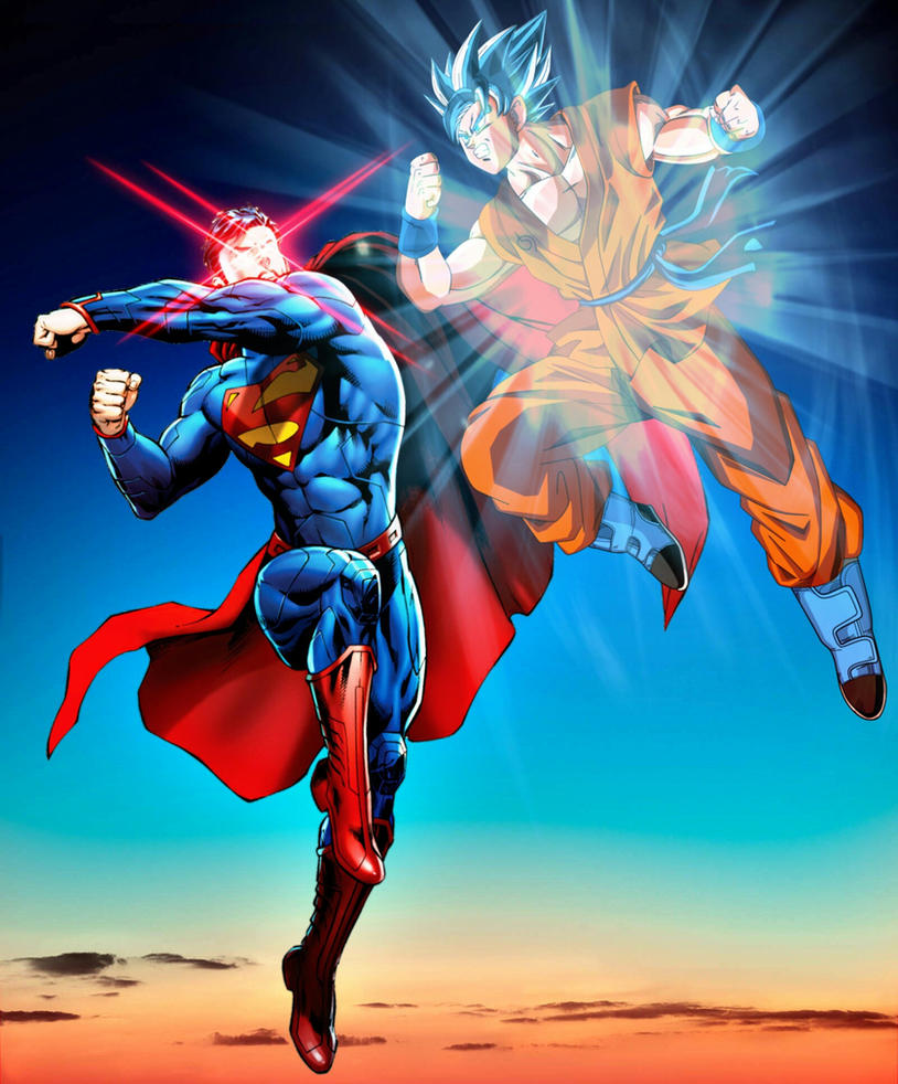 The Pros Of Cons Of Painting Vs Wallpapering: New 52 Superman Vs Ssjgssj Goku By MayanTimeGod On DeviantArt
