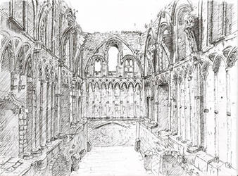 The abbey by Warr3
