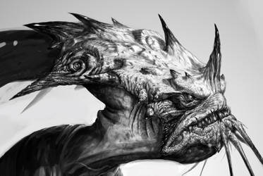 Fish hed'd space alien by joverine