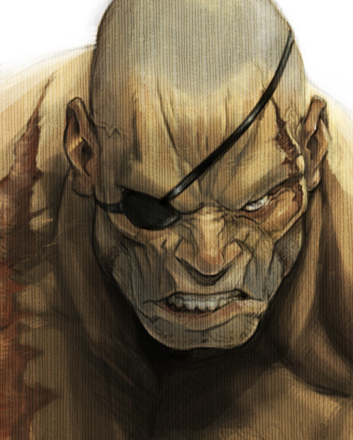 SF Tribby Sagat Closeup by joverine