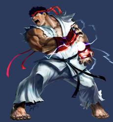 MvC2 Ryu by joverine