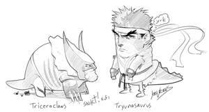 Marvel vs Capcom sketches