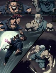 Akuma vs Gouken comic pg by joverine