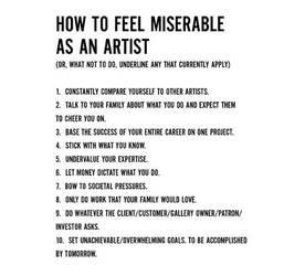 Miserable Artist guidelines