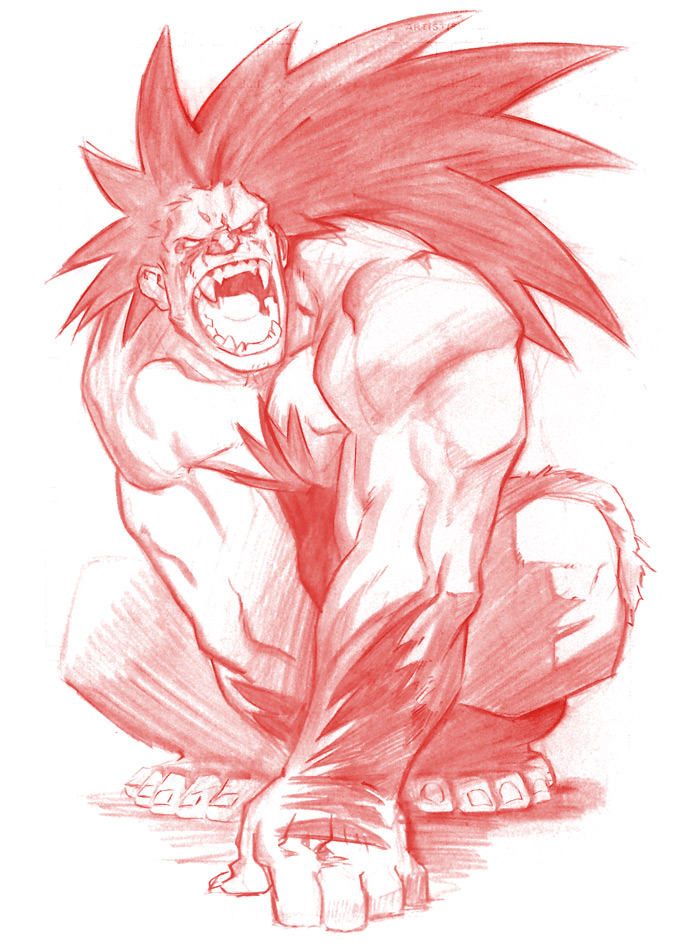 A-kon Blanka full size commish by joverine