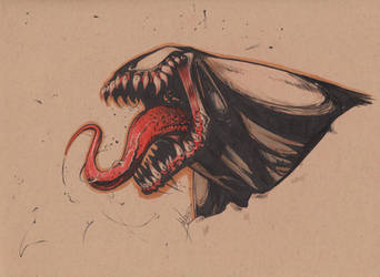 Venom headsketch by joverine