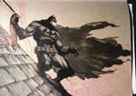 Batman Brown paper sketch