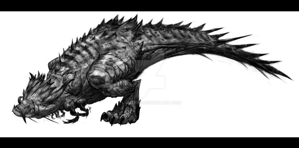 Dragonosaurus Rex full body by joverine