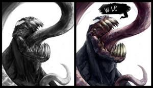 Venom warmup wip by joverine