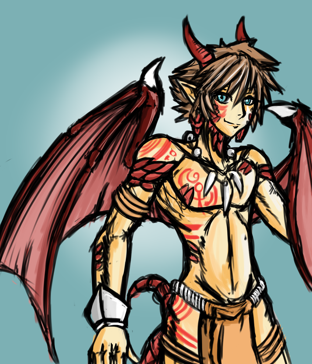 Half dragon half boy by endless warr on deviantart - Anime boy dragon ...