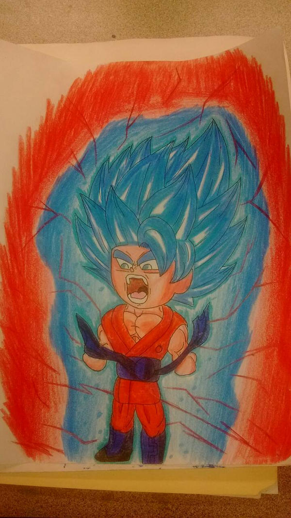 Son Goku Super Saiyan Blue Kaioken X 10 By Elijah Shells On