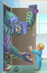 Thirsty closet monster by lgliang