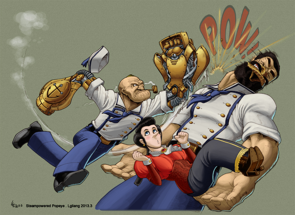 Steampunk Popeye's POW! by lgliang
