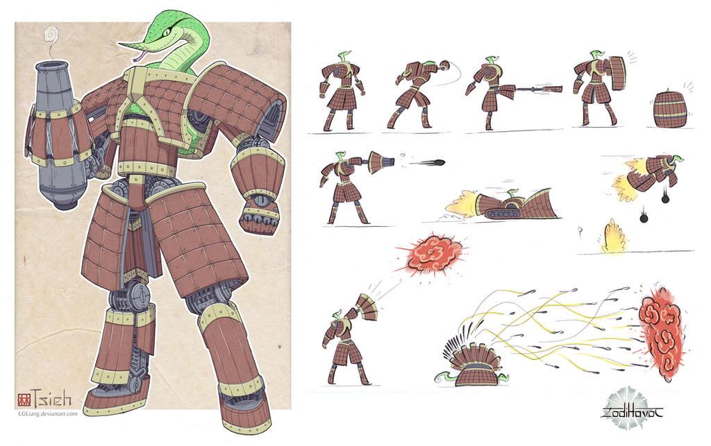 Zodihavoc: Tsieh, terracotta-n-tinman by lgliang
