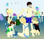 Pokemon Beach Party with DA Friends