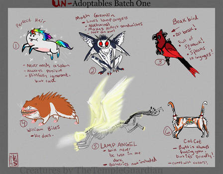 Unadoptables Batch 1 (Auction HOLD)