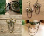 Steampunk Owl Zipper Jewelry