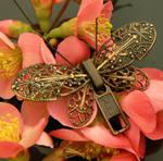 Metalmark - Steampunk Butterfly Zipper Brooch