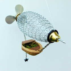 Steampunk Zeppelin Christmas Ornament by deathbysunset