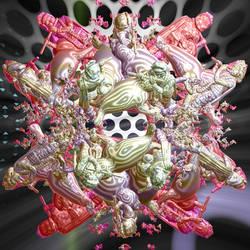 3D inverse Lord Krishna
