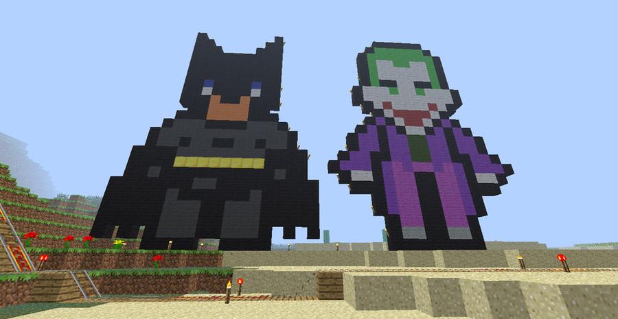 Batman And The Joker In Minecraft By Tlc27 On DeviantArt
