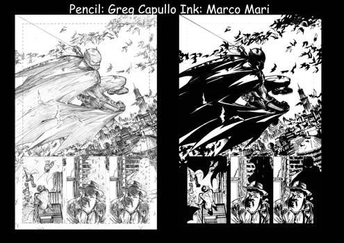 Batman Pencil and Ink