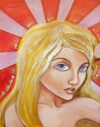 sister golden hair surprise by art-of-jaymee