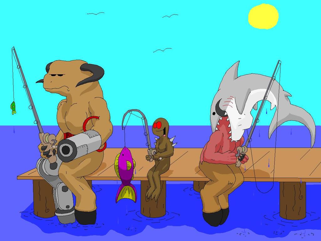 Más fanarts de Doom Fishing_by_Vaneetra