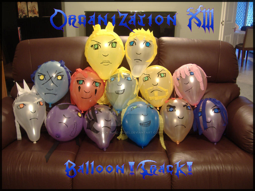 Organization XIII: Balloons by Black-Rose-Angel