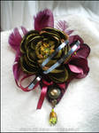 Olive green and purple Hair jewel, UNIQUE PIECE