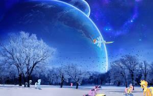 Winter in Equestria by Estaliz