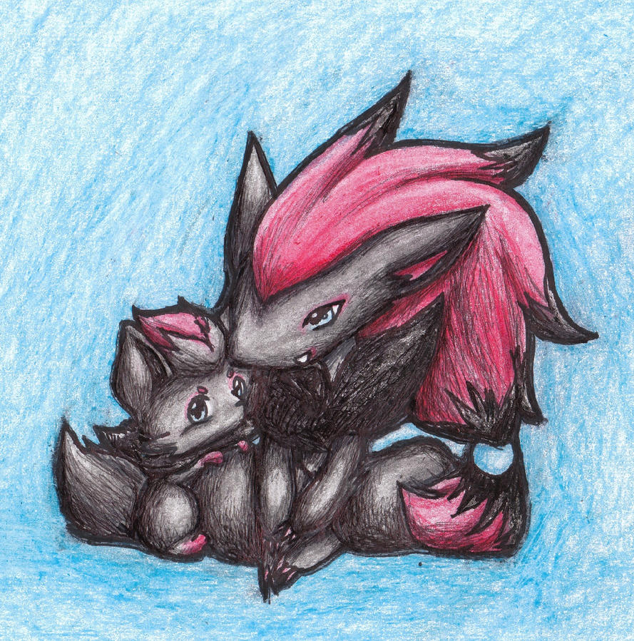 Zoroark and Zorua by RedVinesareHappiness