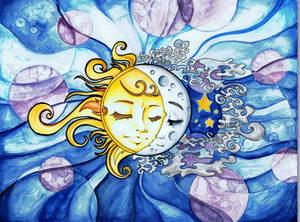 Sun and Moon by starwoodarts