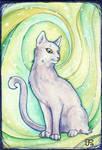 Green Vortex Cat ATC