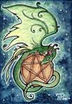 Dragon Pentagram ACEO