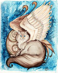 Azara Winged Cat Portrait